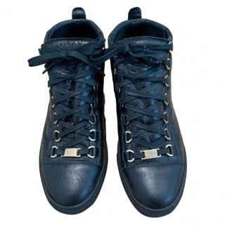 Balenciaga Arena black leather trainers