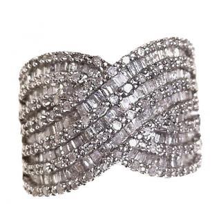 Bespoke grey diamond-encrusted ring