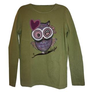 Liujo Junior Owl Embellished Top