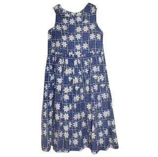 Monnalisa Blue Daisy Dress