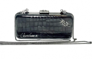 Chanel crocodile-embossed Minaudiere clutch