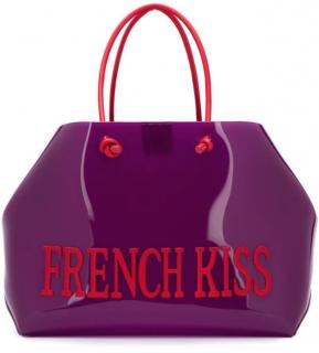 Alberta Ferretti Purple French Kiss Large Tote