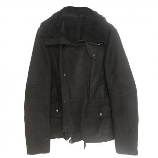 Givenchy Black Shearling Trim Jacket