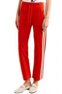 Isabel Marant Etoile lipstick-red dobbs track pants