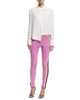 Gucci Jersey Stirrup Leggings with Sylvie Web
