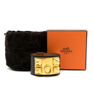 Hermes Black Collier de Chien Bracelet