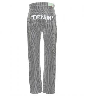 Off-White printed striped jeans