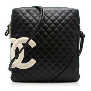 Chanel Black Cambon Cross-body Laptop Bag