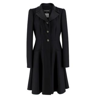 Chanel wool & cashmere-blend A-line coat