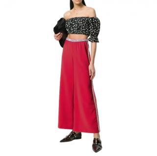 Vivetta red wide leg palazzo pants