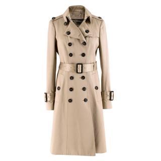 Burberry Beige Cotton Sateen Trench Coat