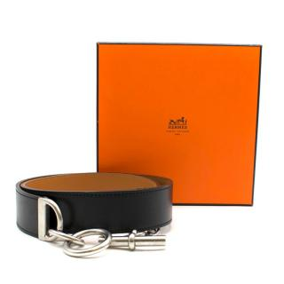 Herm�s Black Chaine D'ancre Belt