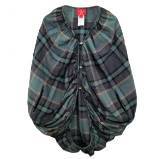 Vivienne Westwood tartan woven poncho