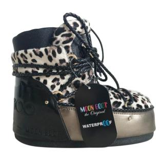 Jimmy Choo Animal Print Moonboots