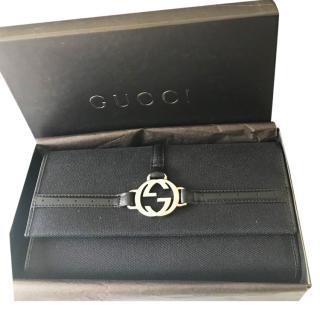 Gucci Black Canvas Wallet