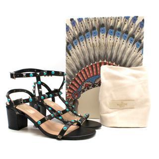 Valentino Rolling Rockstud Low Heeled Sandals