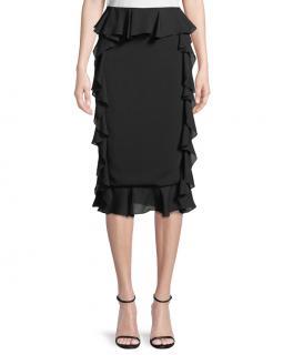 Cushnie Et Ochs Double Georgette Silk Pencil Skirt