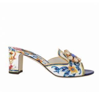 Dolce & Gabbana Sicily Crystal Embellished Mules