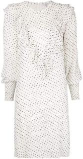 Ganni Rometty Georgette Polka Dot Dress - Current Season
