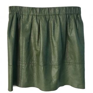 Marc Jacobs green leather mini skirt