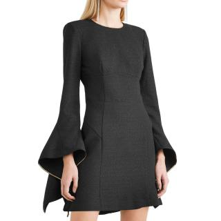 Rebecca Vallance Black Crepe Belize Mini Dress