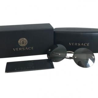 Versace oversized round-frame sunglasses