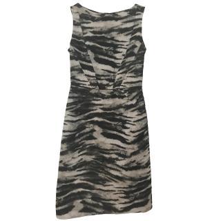 Lanvin tiger-print sleeveless dress