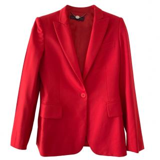 Stella McCartney single-breasted red blazer