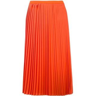 MM6 Maison Margiela orange pleated skirt