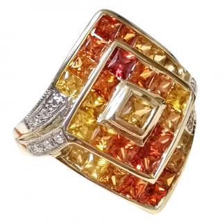 Bespoke Sapphire & Diamond cluster ring