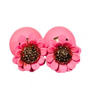 Dior Tribales pink daisy earrings