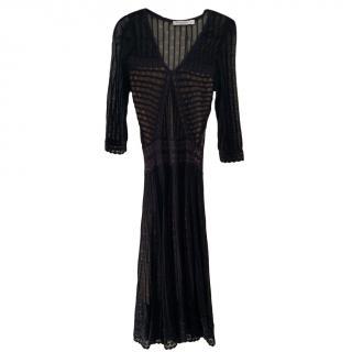 Dior Black Lace Long Dress