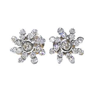 Bespoke 18ct gold diamond set stud earrings