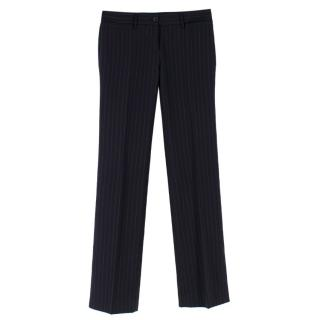 Dolce & Gabbana Navy Pin Stripe Trousers