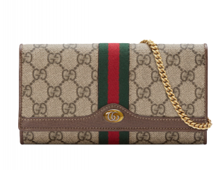 Gucci Ophidia GG Supreme Canvas Wallet On Chain