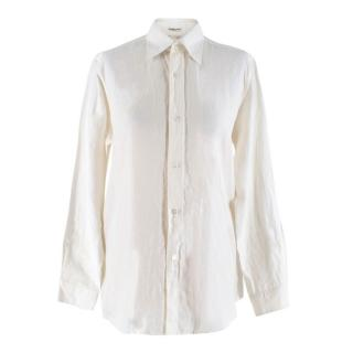 Hermes Off White Linen Shirt