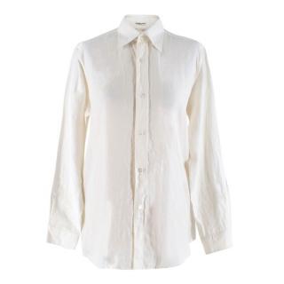 Hermes Off White Linen Shirt