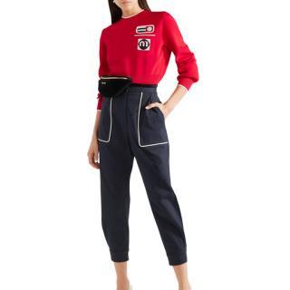 Miu Miu Red Knit Crewneck Jumper