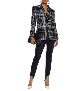 Balmain double-breasted boucl�-tweed jacket