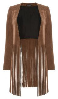 The Perfext by Elyse Walker tan fringed jacket