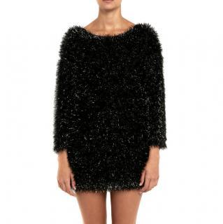 Bella Freud Sparkly knit black jumper dress