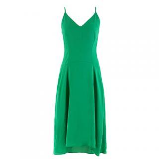 Balenciaga Green Silk-Crepe Dress
