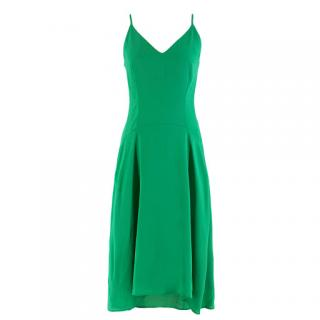 Balenciaga Green Silk-Crepe Dress