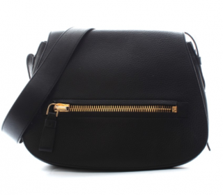 Tom Ford Black Leather Messenger Bag