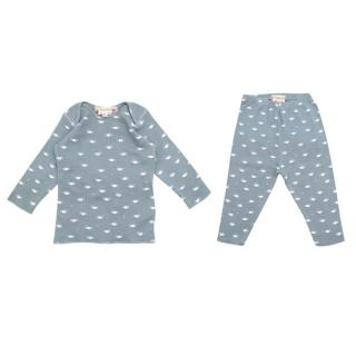 Bonpoint Baby 3M Blue Car Themed Top & Trousers Set