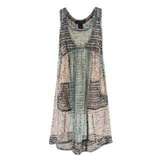 Isabel Marant Metallic Print Silk Tunic