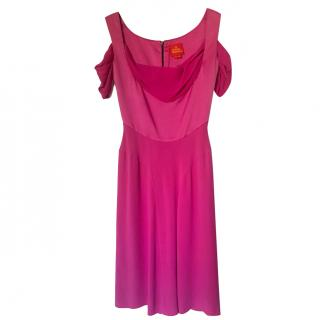 Vivienne Westwood Fuchsia Draped Dress
