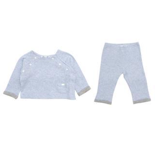 Tartine et Chocolat Baby 9M Blue Top and Trouser Set