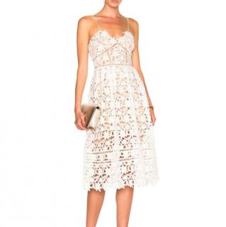 Self Portrait White Azaelea Dress