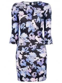 McQ Orchid Print Midi Dress